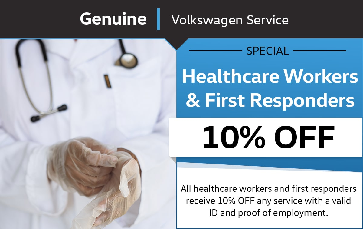 VW Healthcare Workers & First Responders Service Special Coupon