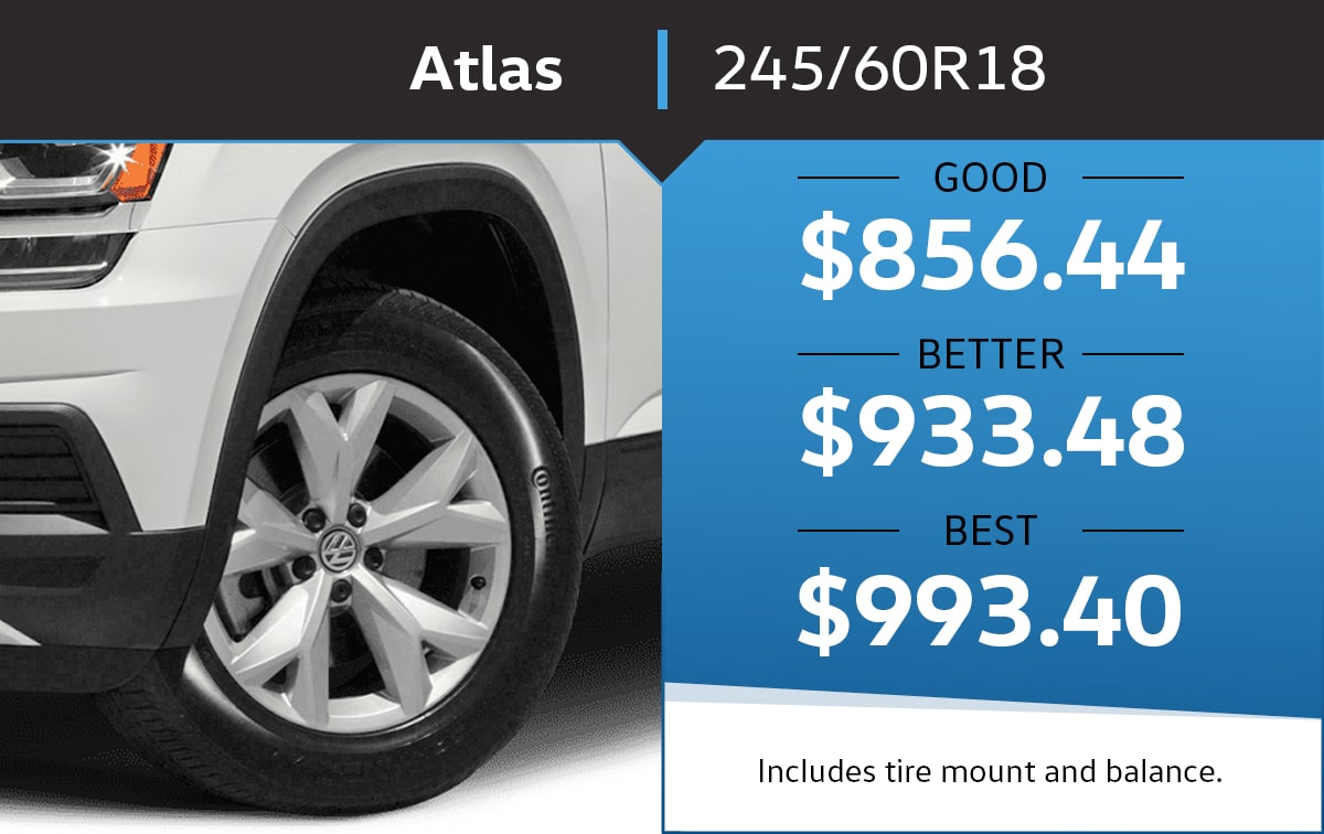 VW Atlas 245/60R18 Tire Special