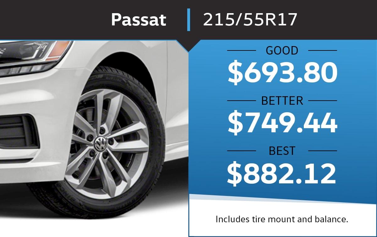 VW Passat 215/55R17 Tire Special