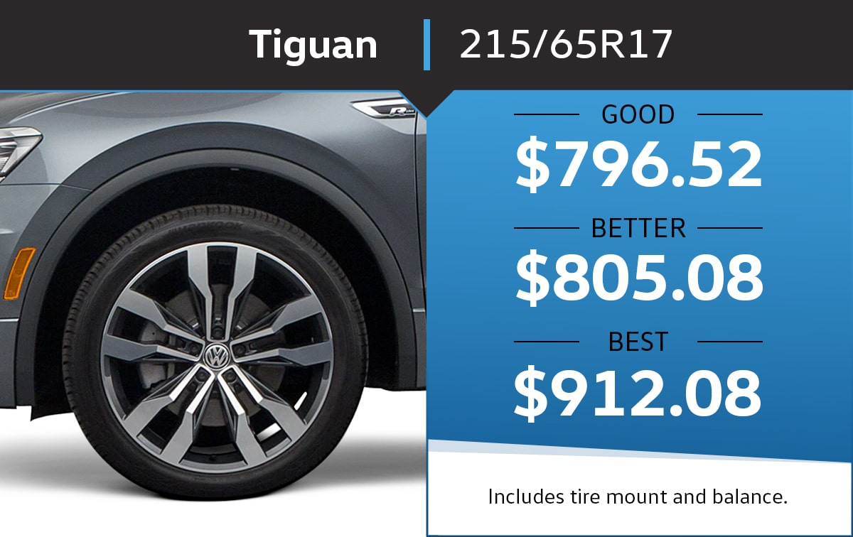 VW Tiguan 215/65R17 Tire Special