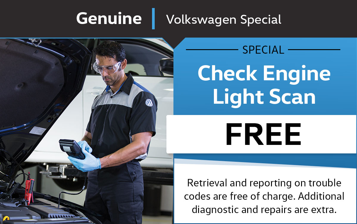 VW Check Engine Light Scan Service Special Coupon