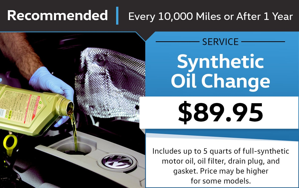 Volkswagen Synthetic Oil Change Service Special Coupon