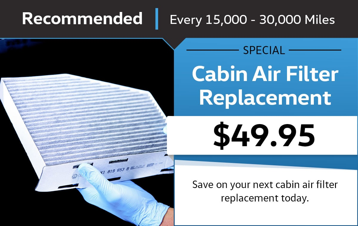VW Cabin Air Filter Service Special Coupon