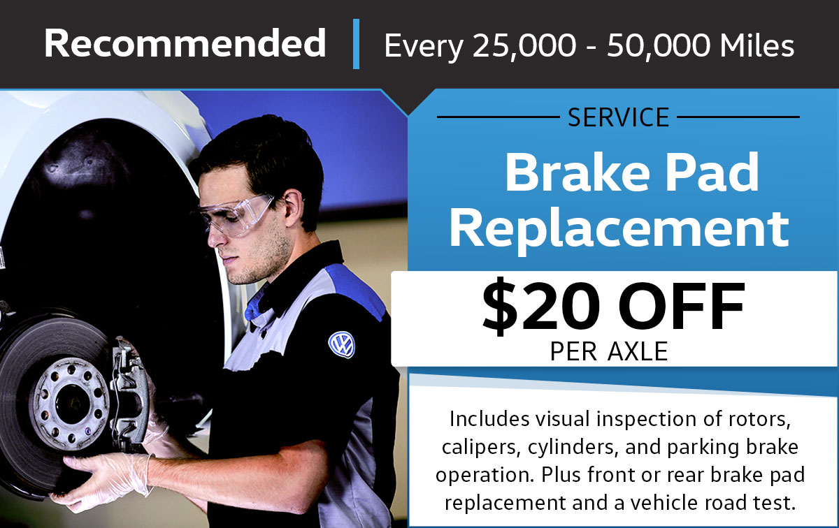 VW Brake Pad Replacement Service Special Coupon