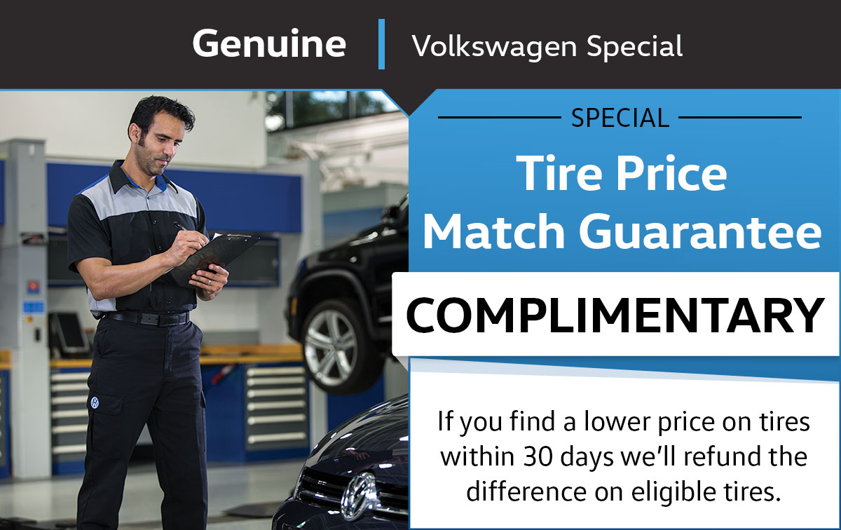 VW Tire Price Match Guarantee Service Special Coupon