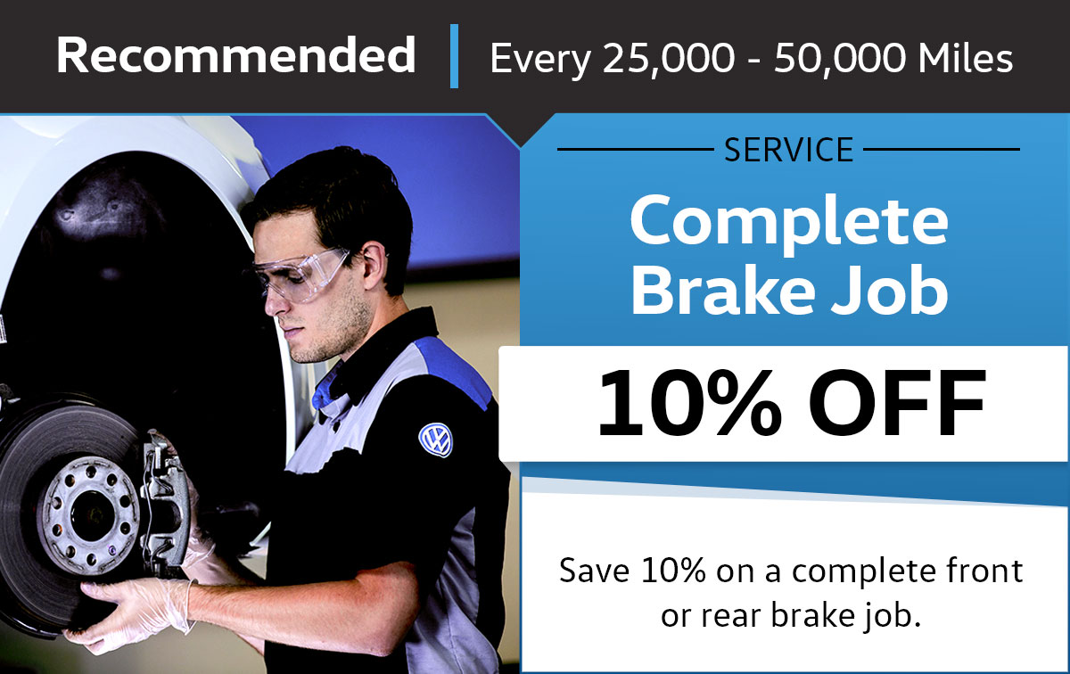 VW Complete Brake Job Service Special Coupon