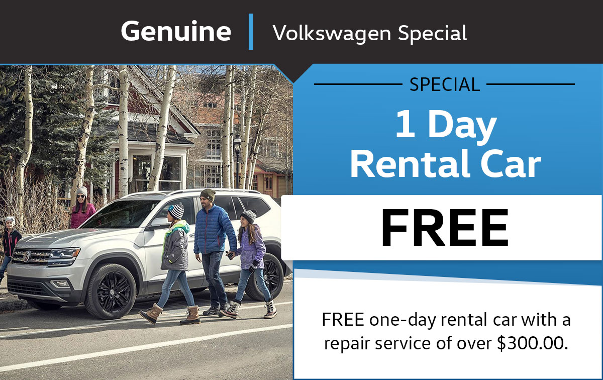 VW 1 Day Rental Car Service Special Coupon