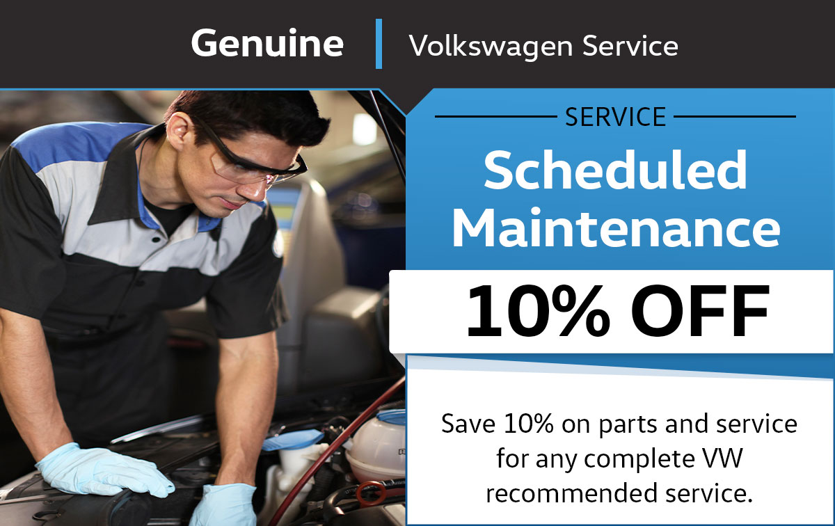 VW Scheduled Maintenance Service Special Coupon