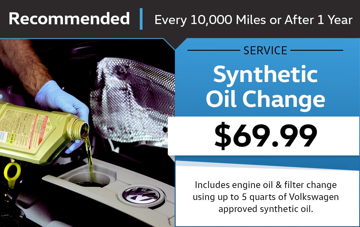 VW Synthetic Oil Change Service Special Coupon