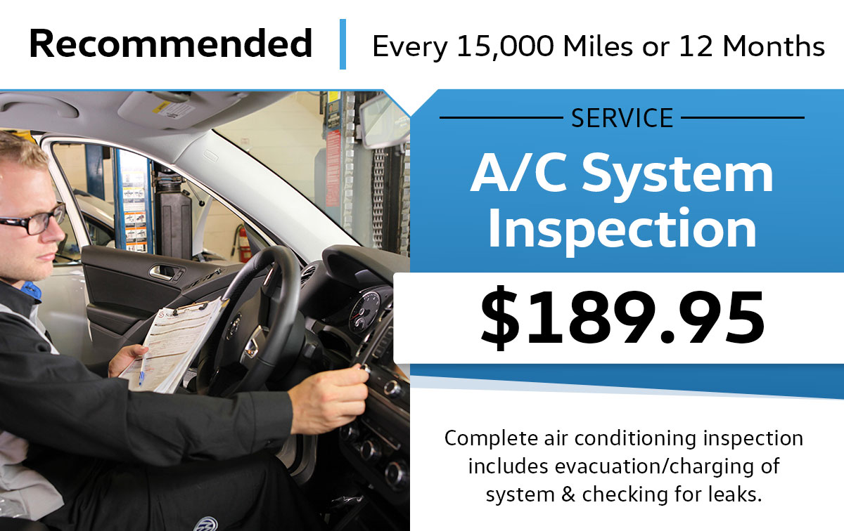 VW A/C System Inspection Service Special Coupon