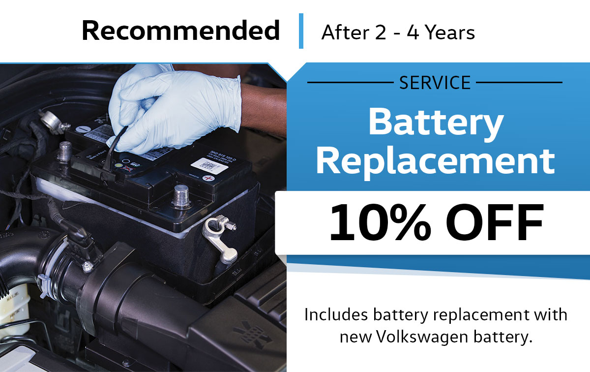 VW Battery Replacement Service Special Coupon