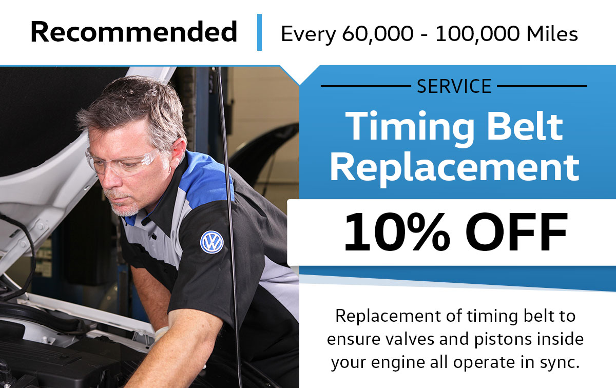VW Timing Belt Replacement Service Special Coupon