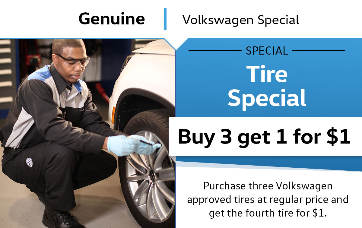 VW Tire Service Special Coupon