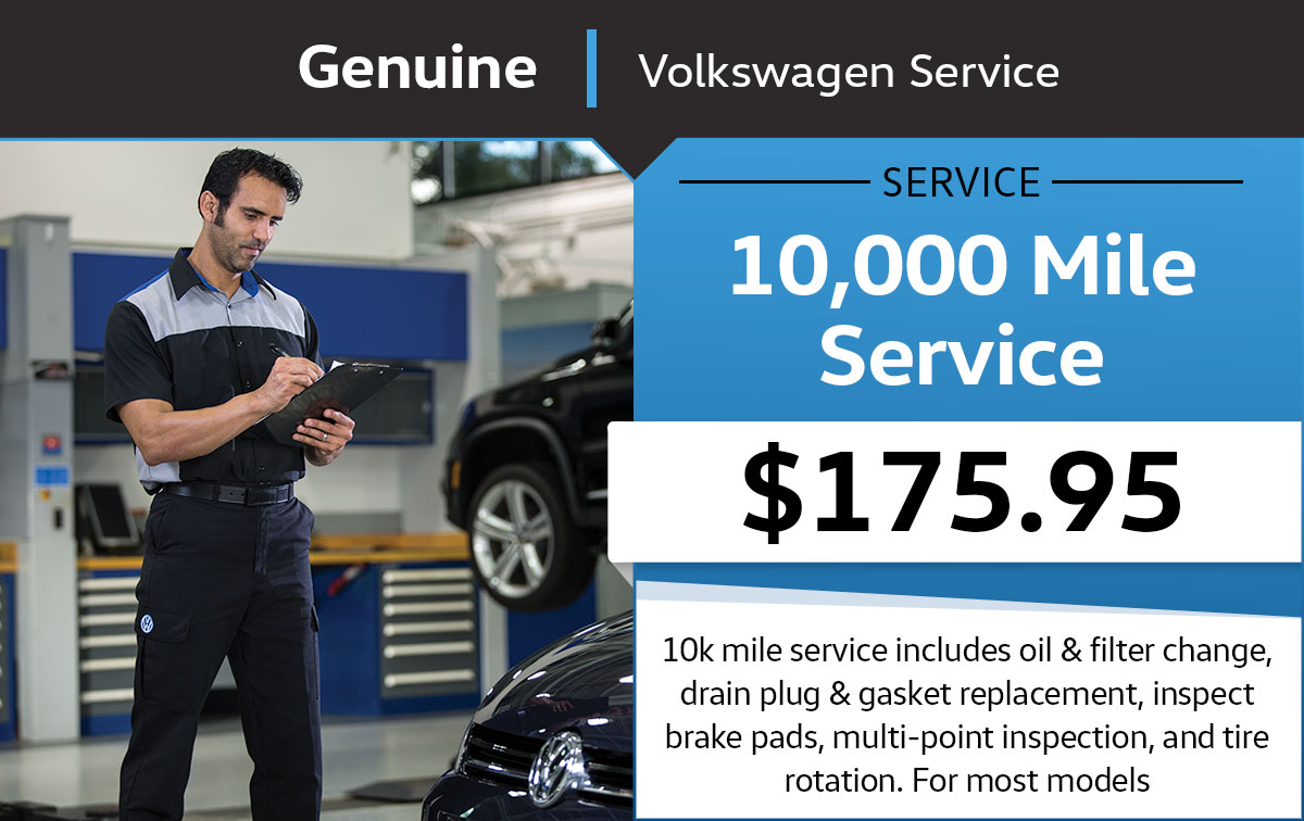 VW 10,000 Mile Service Special Coupon