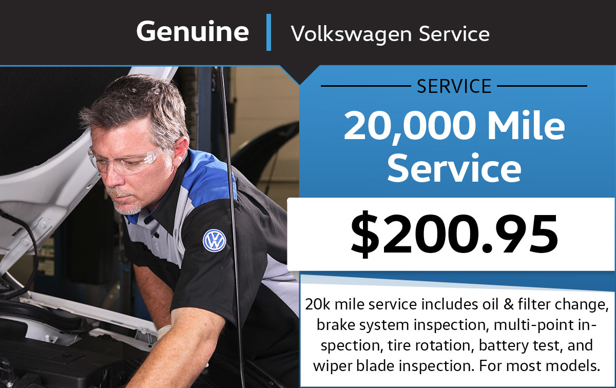 VW 20,000 Mile Service Special Coupon