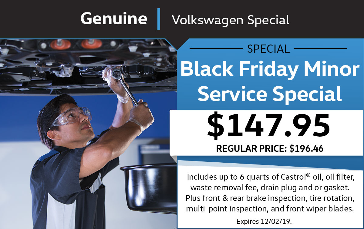 VW Black Friday Minor Service Special Coupon