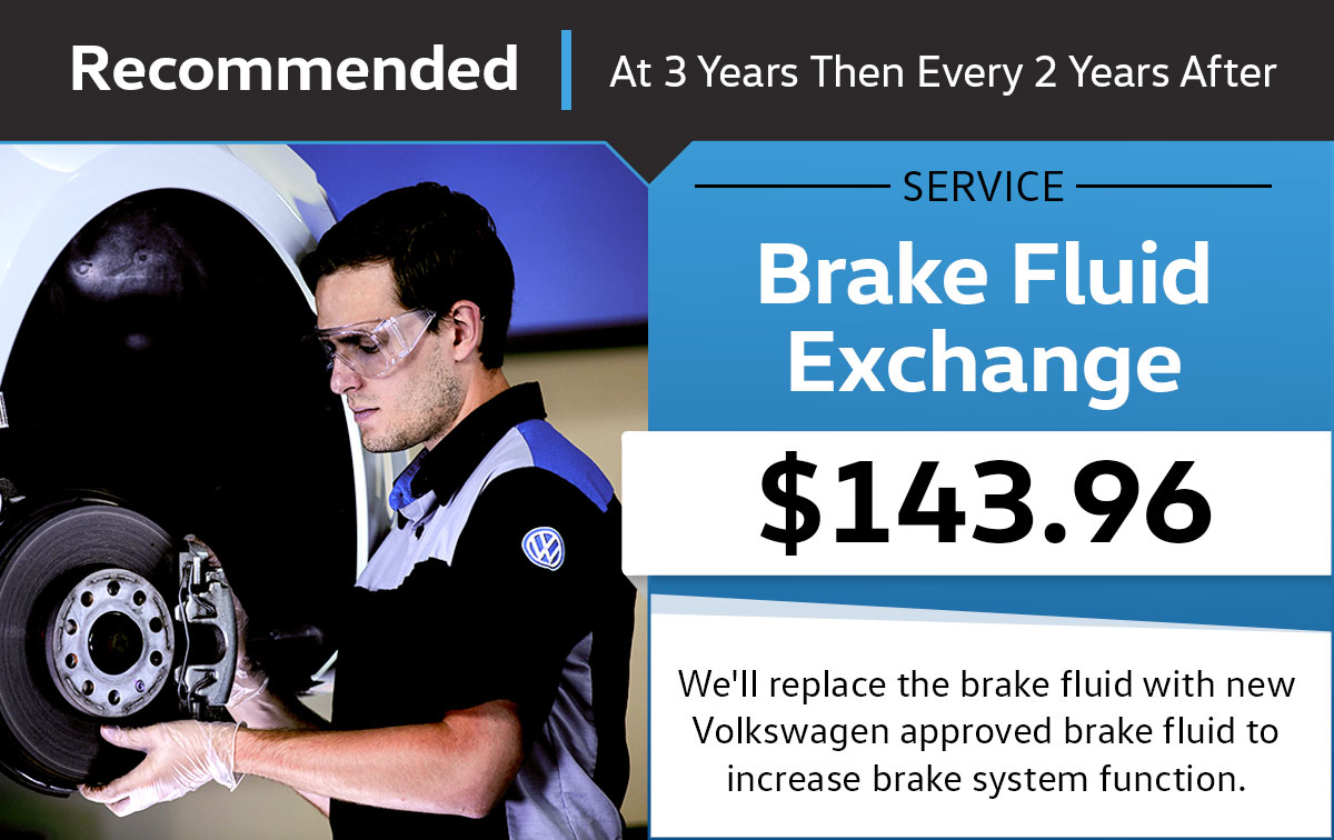 VW Brake Fluid Exchange Service Special Coupon
