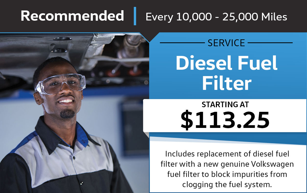 VW Diesel Fuel Filter Service Special Coupon