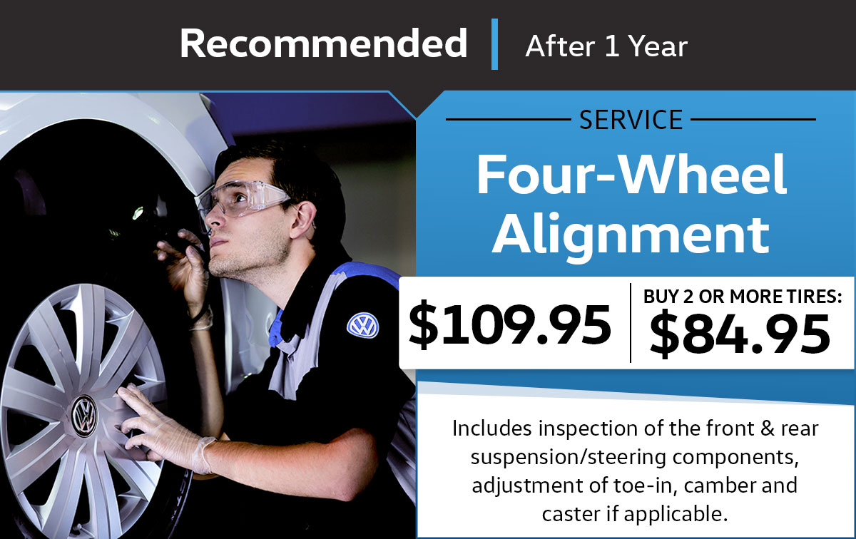 VW Four-Wheel Alignment Service Special Coupon