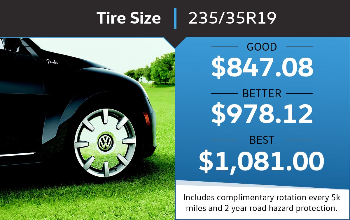VW 235/35r19 Tire Special