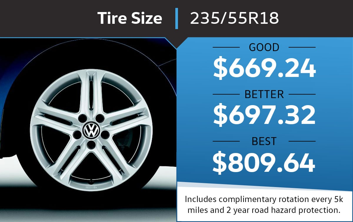 VW 235/55R18 Tire Special