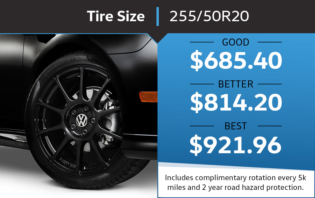 VW 255/50r20 Tire Special