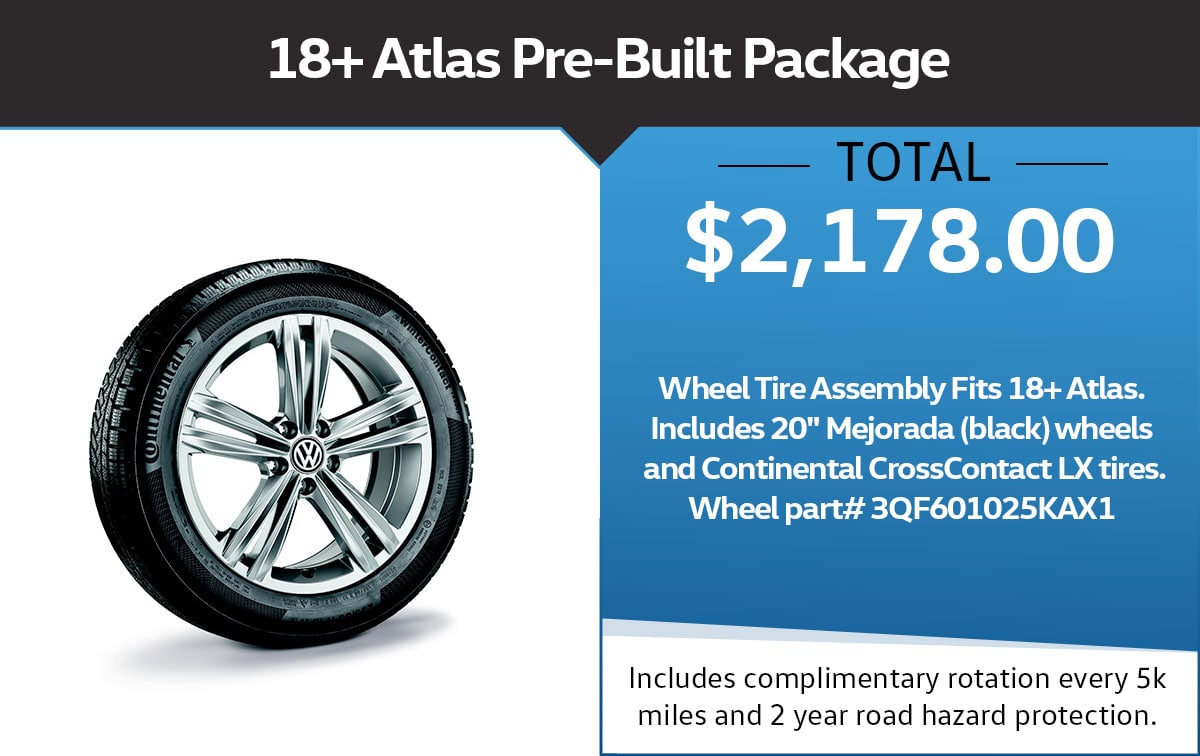 VW Pre-Built Package Tire Special