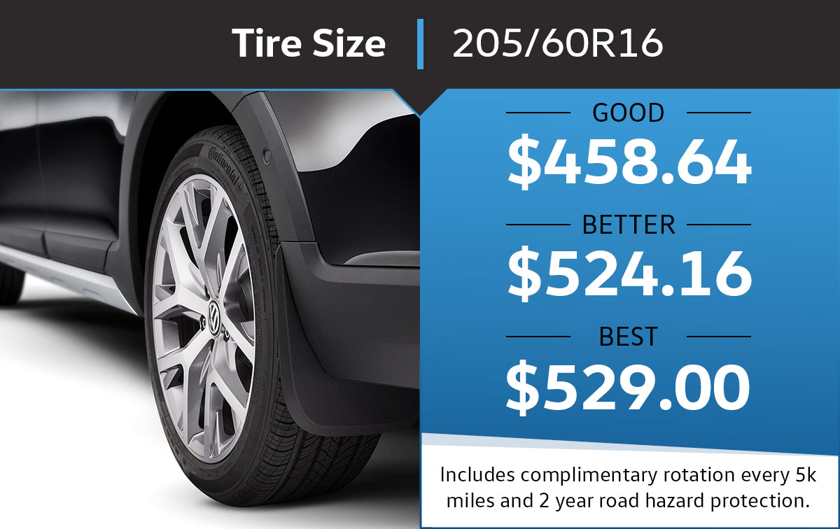 VW 205/60R16 Tire Special