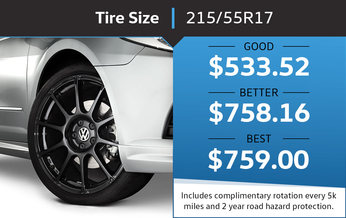 VW 215/55R17 Tire Special