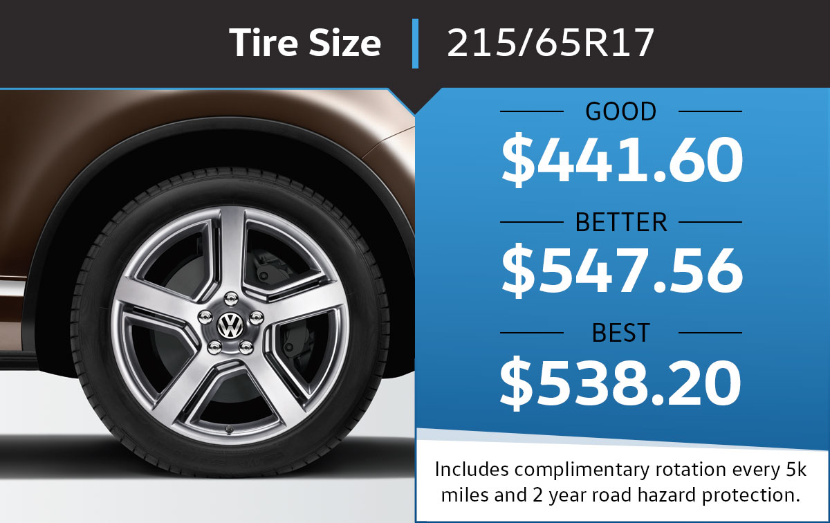 VW 215/65R17 Tire Special