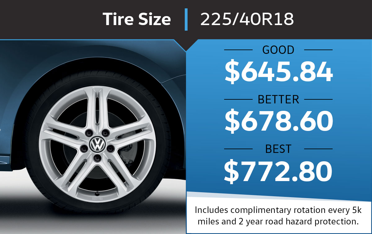 VW 225/40R18 Tire Special