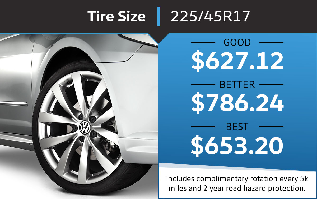 VW 225/45R17 Tire Special