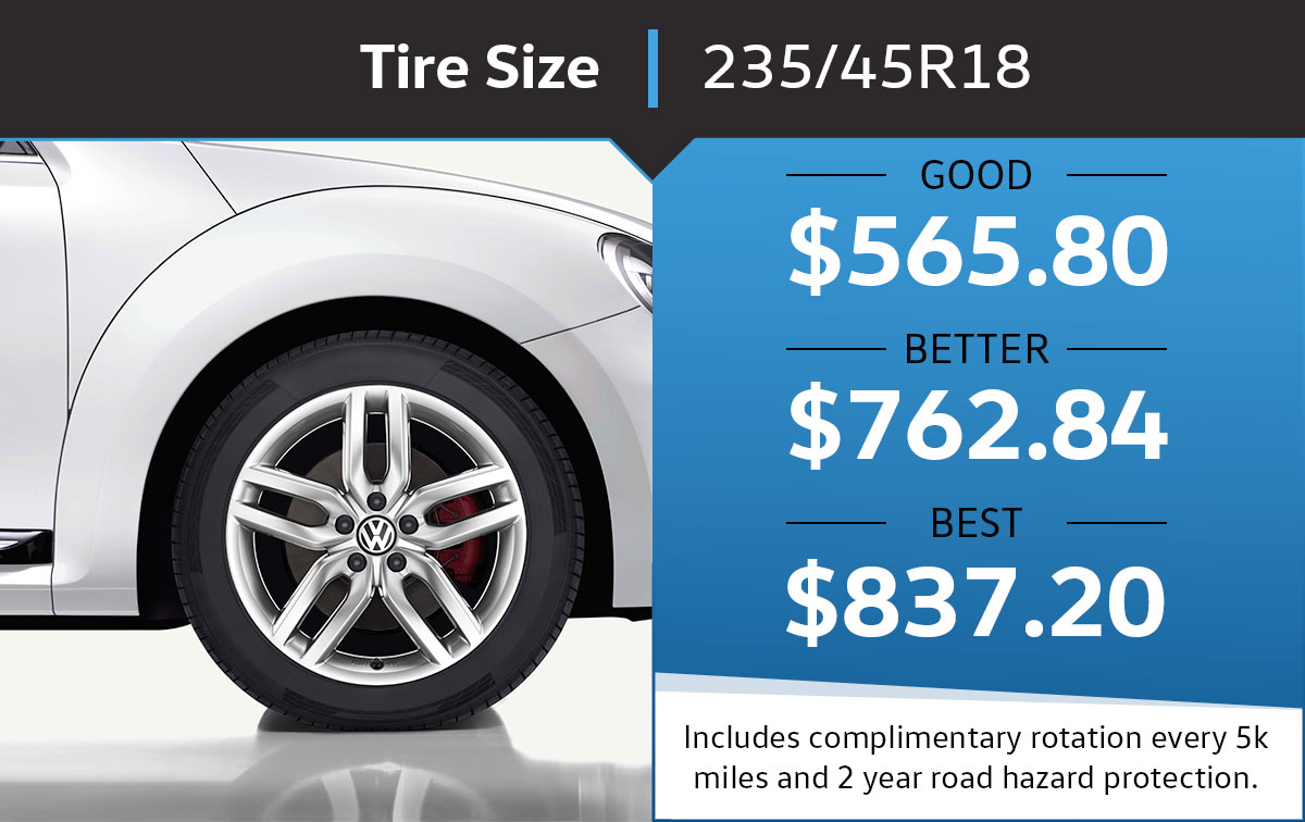 VW 235/45R18 Tire Special