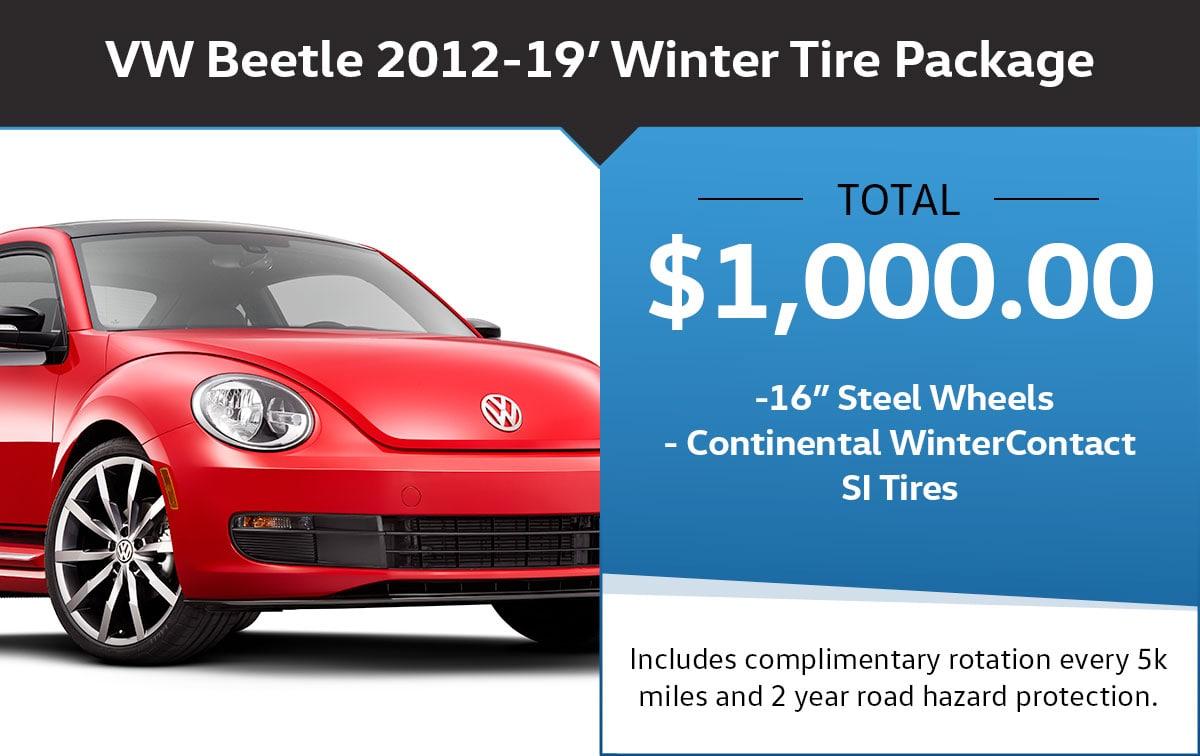 VW Beetle Winter Tire Package