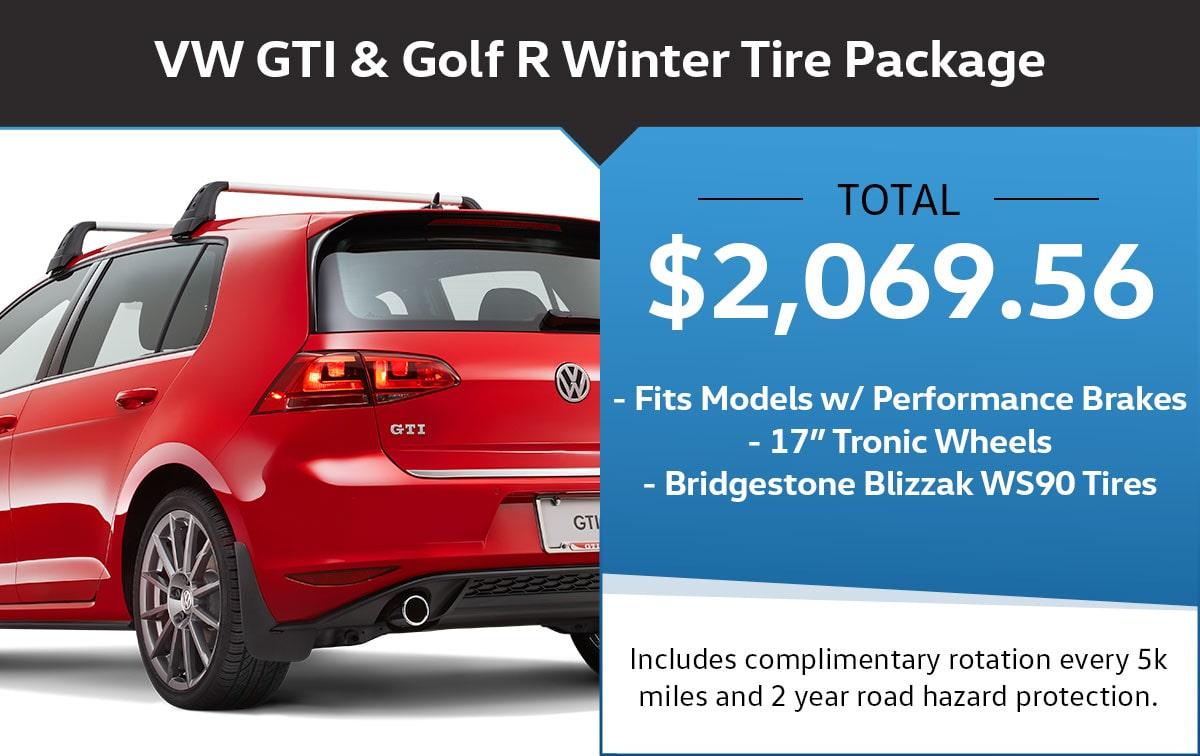 VW GTI & Golf R Winter Tire Package