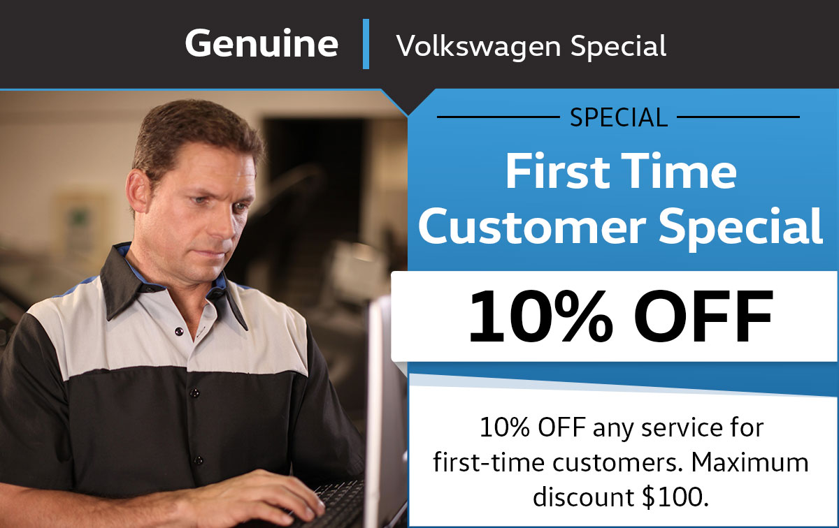 VW First Time Customer Service Special Coupon