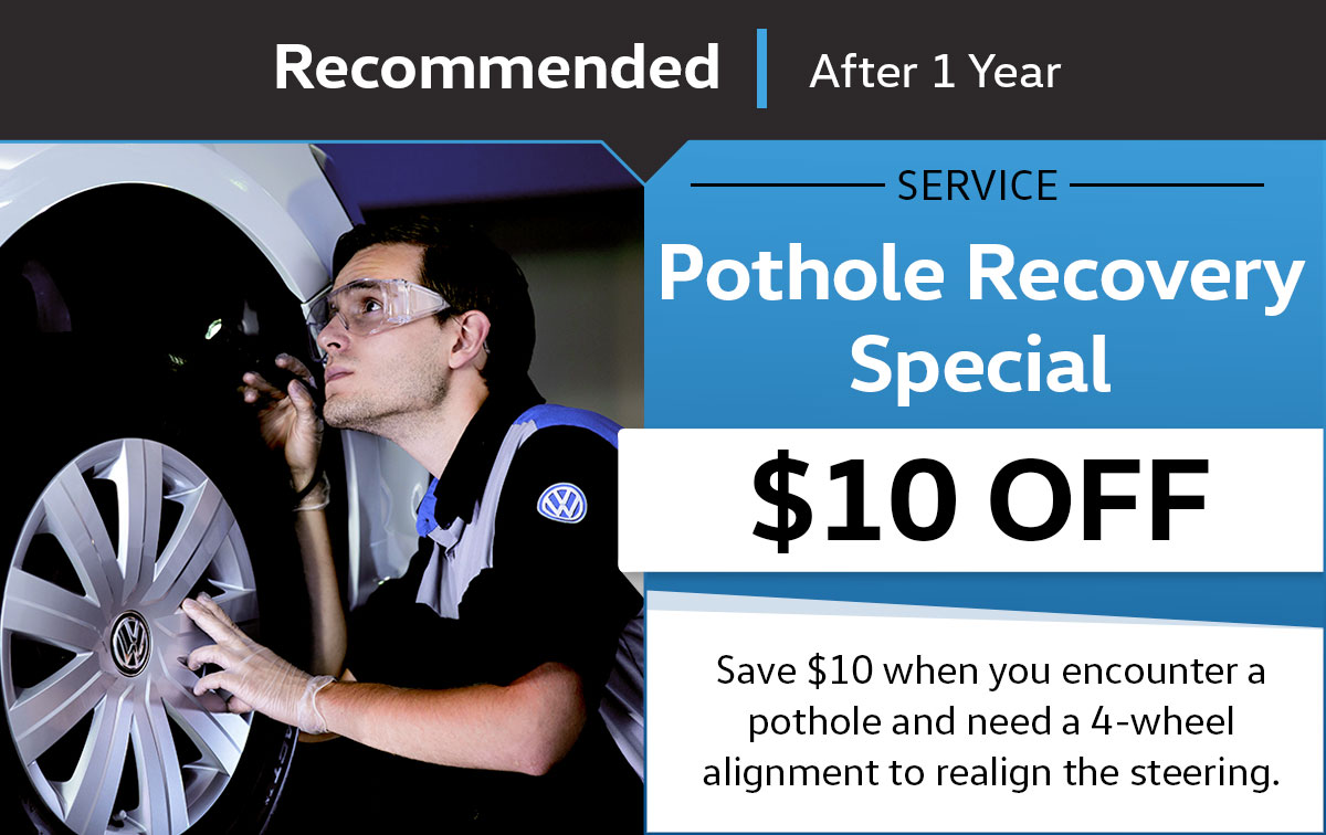 VW Pothole Recovery Service Special Coupon