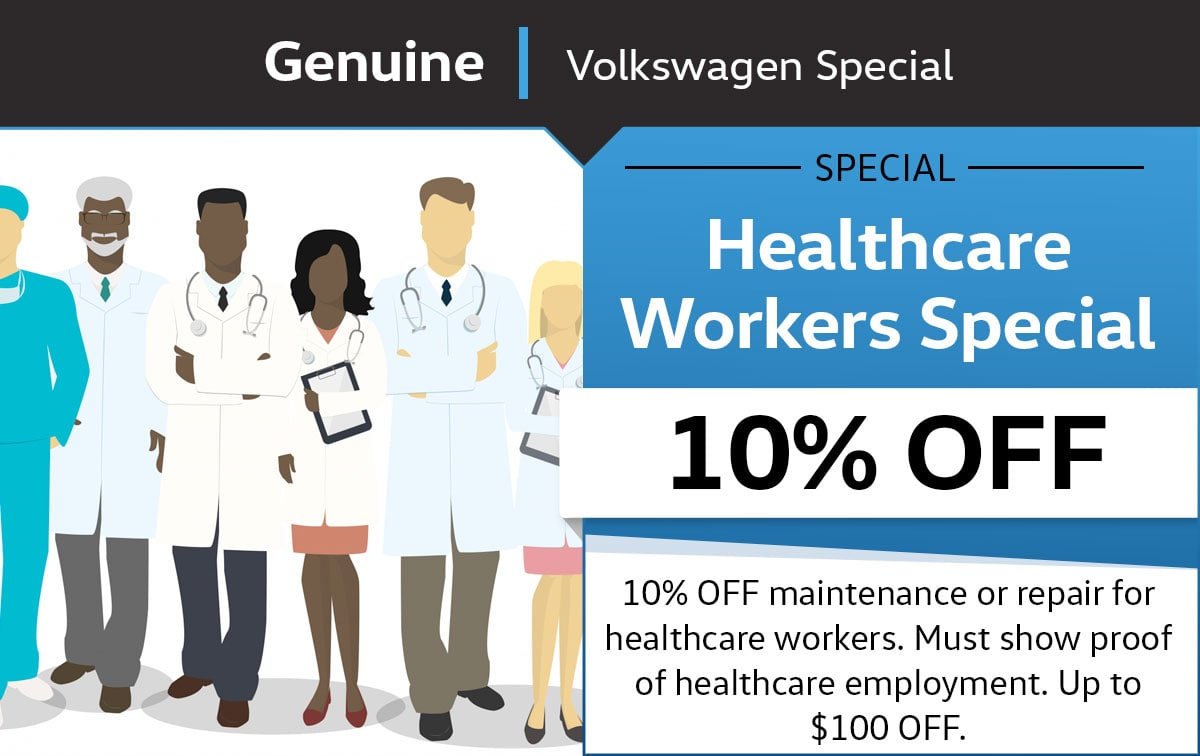 VW Healthcare Workers Service Special Coupon