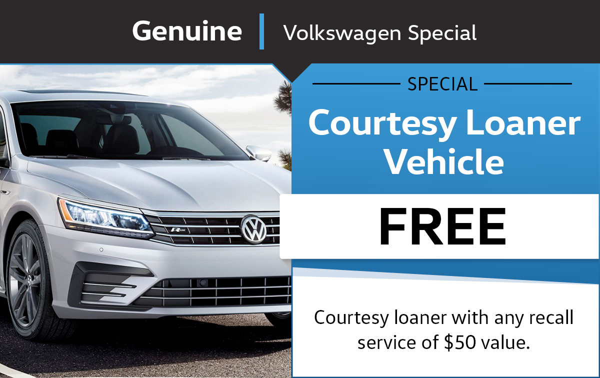 VW Loaner Vehicle Service Special Coupon