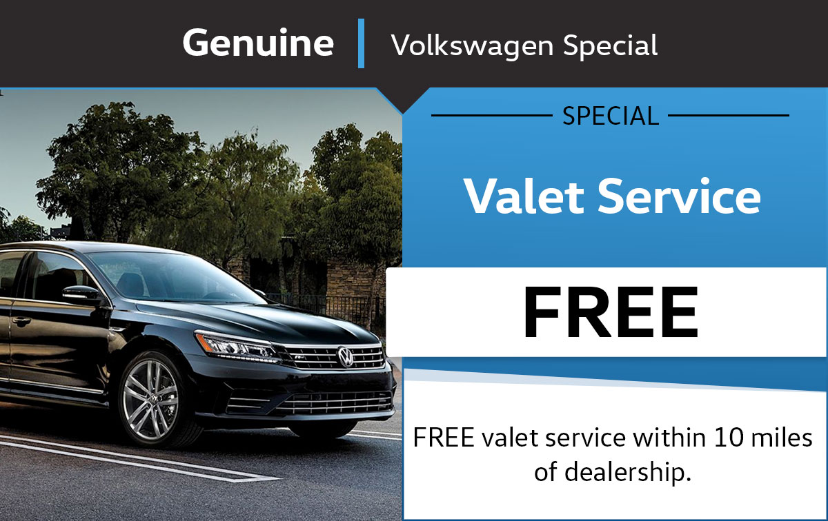 VW Valet Service Special Coupon