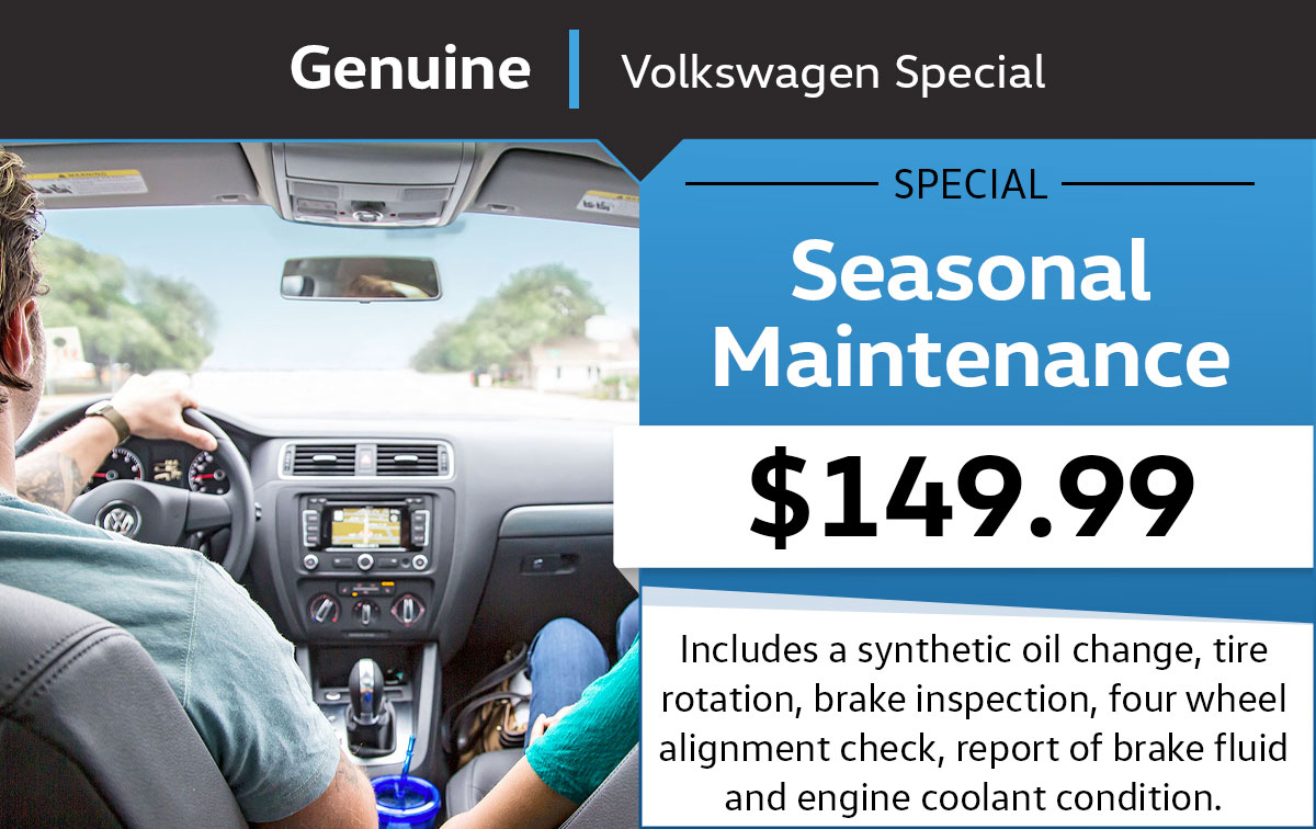VW Seasonal Maintenance Service Special Coupon