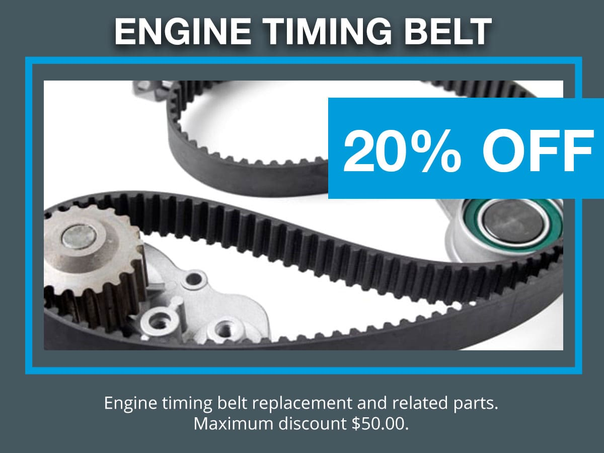 Engine Timing Belt & Parts Replacement Coupon