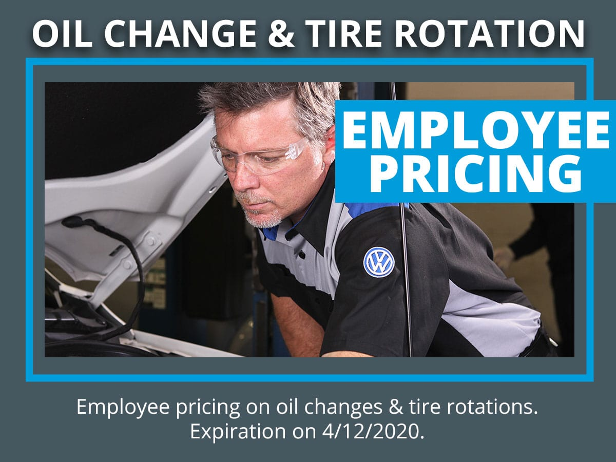 VW Oil Change & Tire Rotation Service Coupon