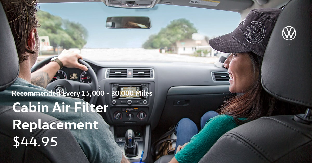 Volkswagen Cabin Air Filter Replacement Service Special Coupon