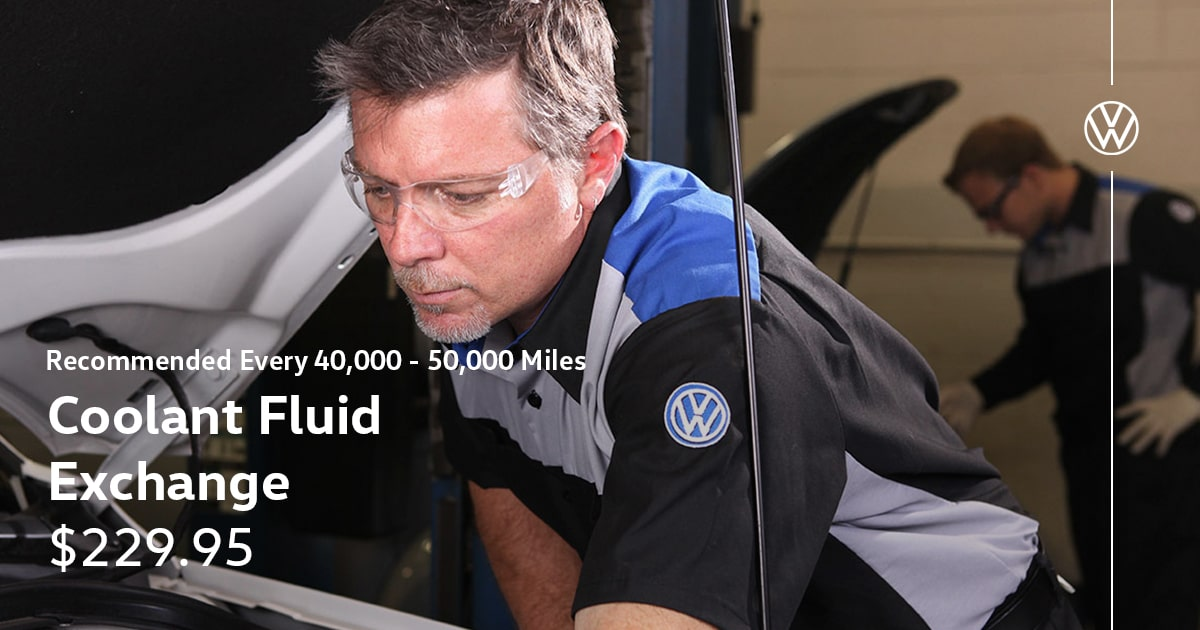 Volkswagen Coolant Fluid Exchange Service Special Coupon