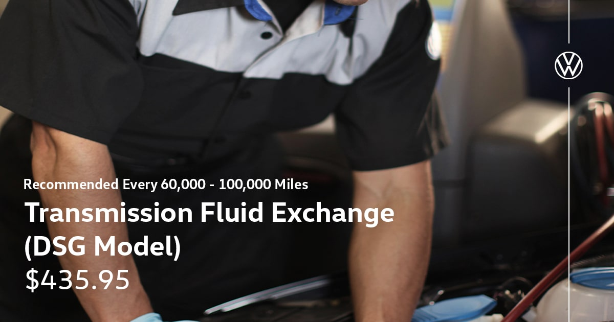Volkswagen Transmission Fluid Exchange (DSG Model) Service Special Coupon