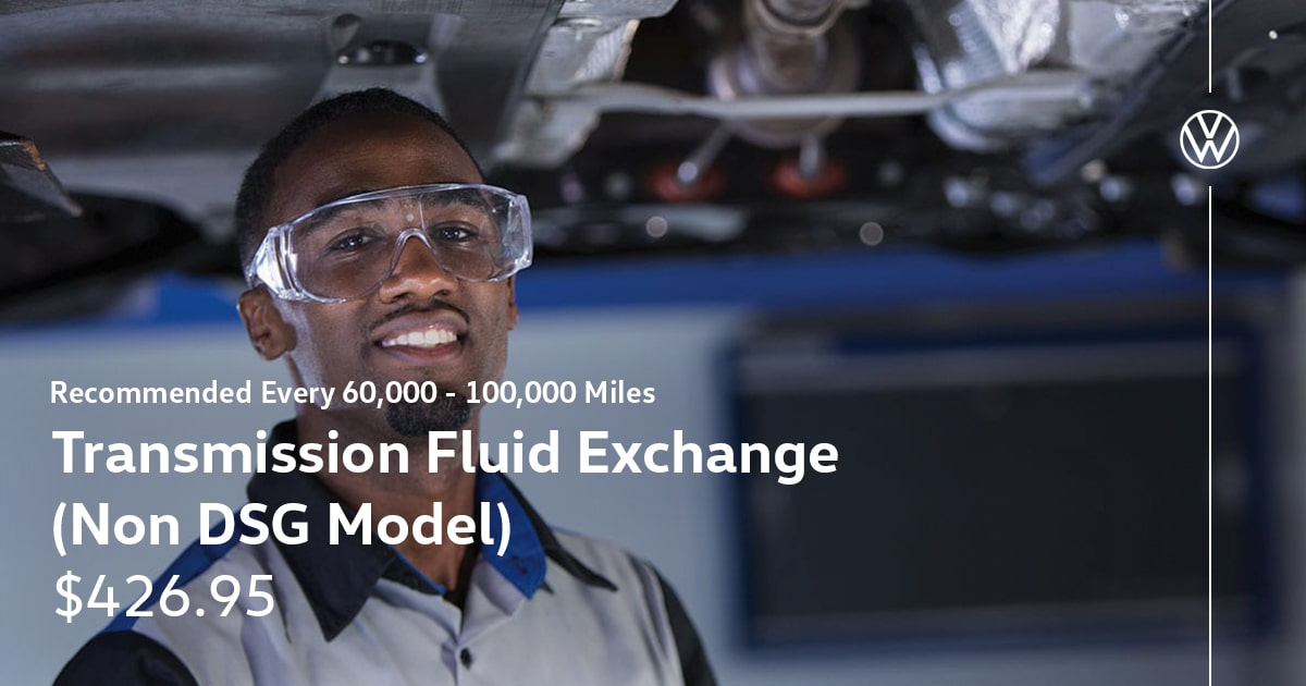 Volkswagen Transmission Fluid Exchange Service Special Coupon