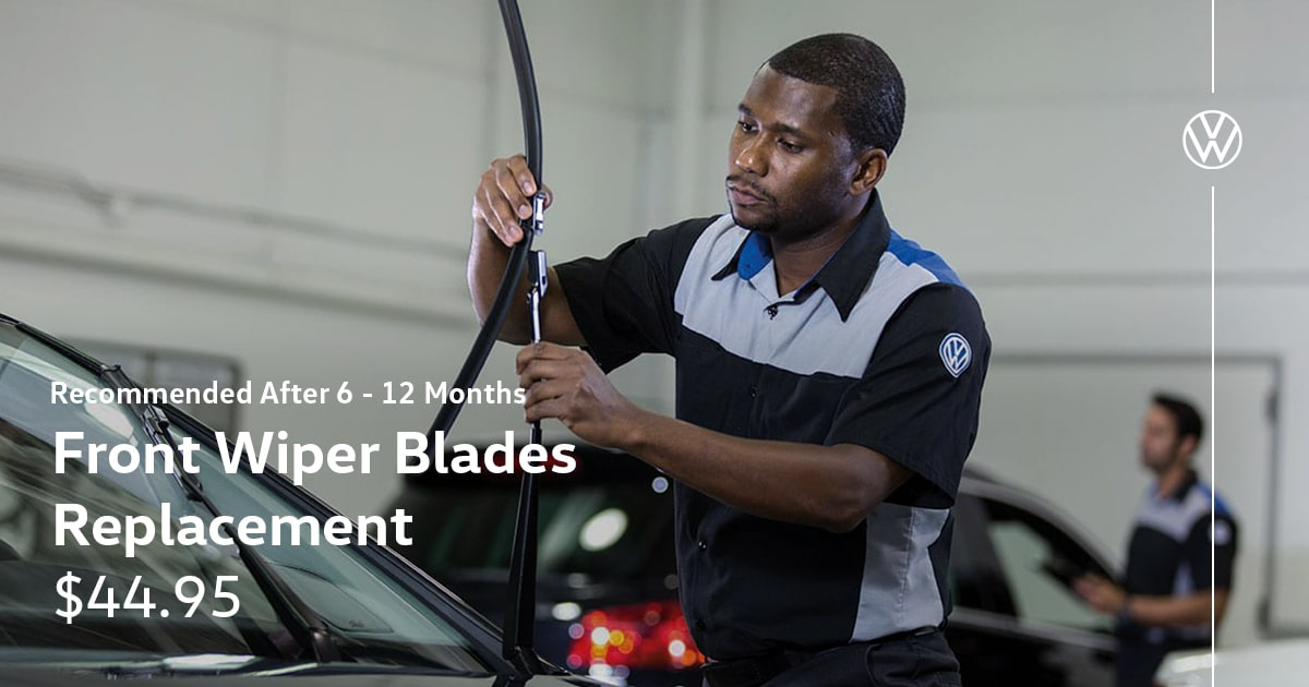Volkswagen Front Wiper Blades Replacement Service Special Coupon
