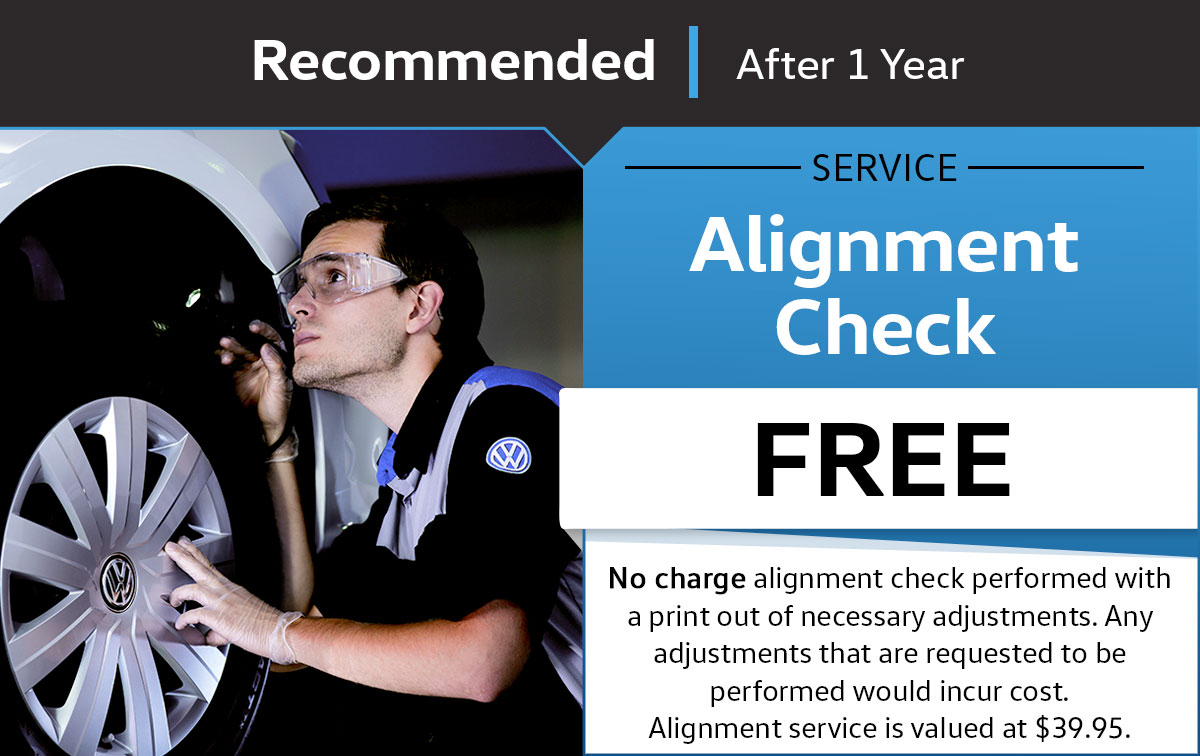 VW Alignment Check Service Special Coupon