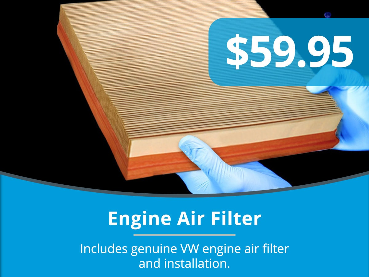 Engine Air Filter Special Coupon Tom Wood Volkswagen